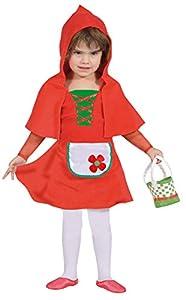 FIORI PAOLO-Baby Caperucita disfraz niña Girls, Rojo, 3-4años, 61336.3-4