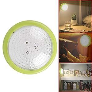 TinyBrite Battery Powered Push Plastic LED Closet Light (Green)