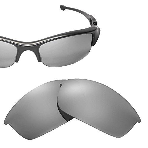 Cofery Ersatzgläser für Oakley Flak Jacket Sonnenbrille - Verschiedene Optionen erhältlich, Unisex, Titanium - Non Polarized, Einheitsgröße