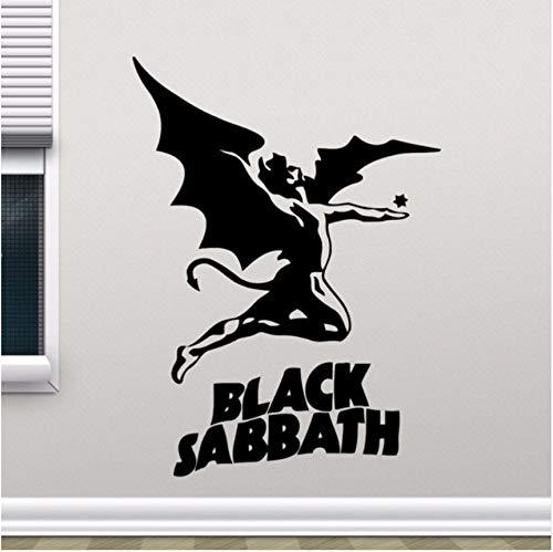 Lvabc 57X78 Cm Negro Sabbath Tatuajes De Pared Heavy Metal Música Rock Vinilo Pegatinas De Pared Decoración De La Sala De Estar Hogar Diseño Desmontable Pared Del Arte Mural