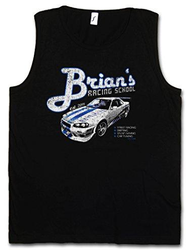 Brian`S Racing School Vest Tank TOP Muscle Shirt – Paul 2013 Street Racing Walker Nissan Drifting Skyline Sizes S – 5XL