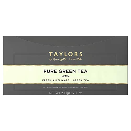 Taylors of Harrogate Delicate Pure Green Tea, 100 Tea Bags
