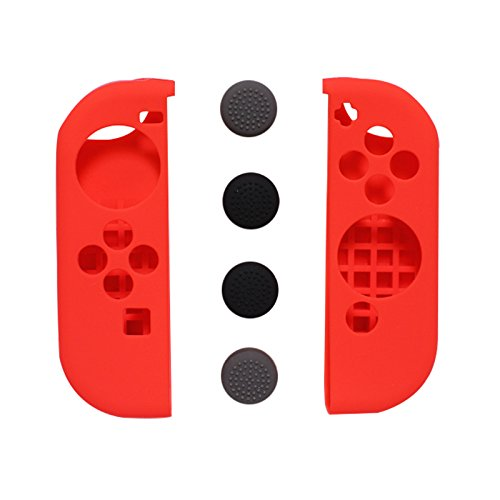 Preisvergleich Produktbild Feicuan Silikon Case Cover für Switch Joy-Con with Thumb Stick Caps (Pack of 6)