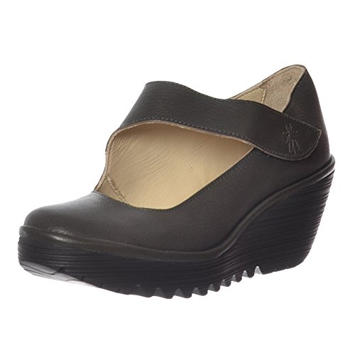 Fly London Yasi682fly, Scarpe Col Tacco Punta Chiusa Donna Nicotine Mousse