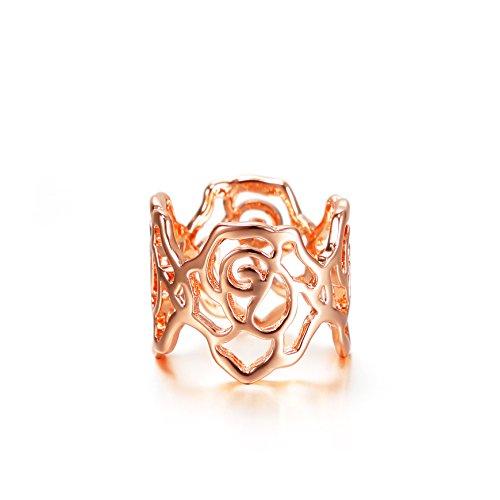 barbie, anello da ragazza e donna, anello ovale, anello dalla forma a fiore, anello oro , anello di squisita fattura #BSJZ021 (16.9)