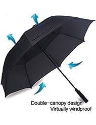 edear 157,5cm automatischen öffnen Golf Regenschirm Winddicht Extra große Oversize Golf Regenschirm Double Canopy belüftet Stick Regenschirme, wasserdicht, mit Tragetasche