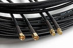 Bidatong Twin Koaxkabel 3m für LTE WLAN MIMO Antenne - Aircell 5 - SMA Stecker - SMA Buchse