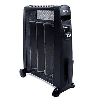 Duronic HV052 Calefactor Radiador Eléctrico Bajo Consumo con Panel de Mica de 1500 W, Termostato Digital y Mando a Distancia, Paneles Calefactores Libre De Aceite Que Calienta en 1 Minuto