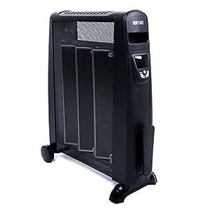 Duronic HV052 Radiateur électrique en mica sans huile de 1500 Watts avec thermostat et télécommande - Chauffe en une minute