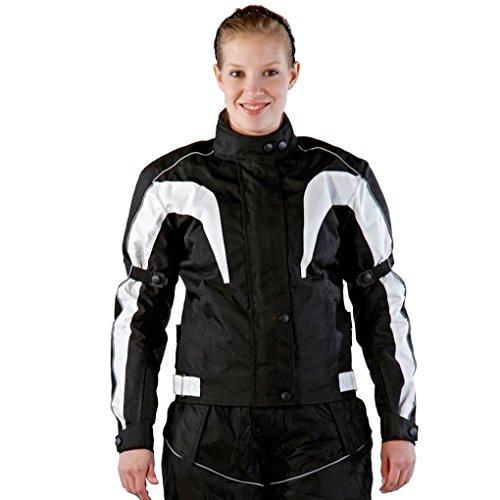 Lemoko Damen Textil Motorradjacke schwarz Gr M