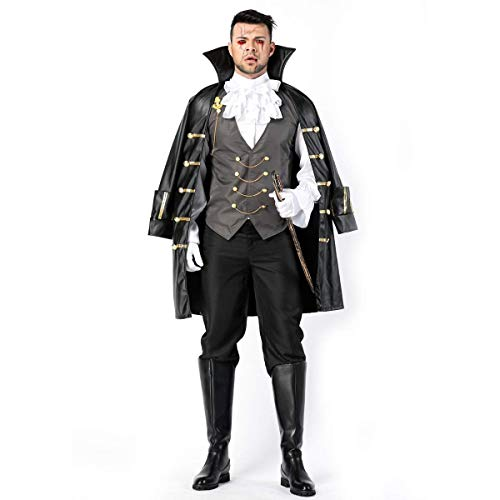Fdhd Halloween Männer Piraten Cosplay Kostüm Mantel Mit Mantel Set Erwachsenenspiel Kostüm Bühnen Kleid