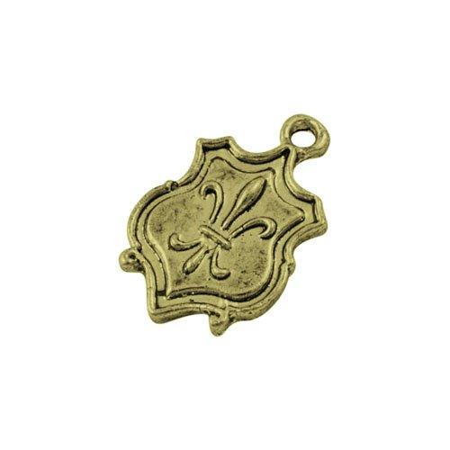 Charming Beads GROSSHANDEL! 4 Pakete 15 x Steampunk Bronze Tibetanische 24mm Fleur De Lis Charme/Anhänger BB-ZX13530 - Bronze Fleur De Lis