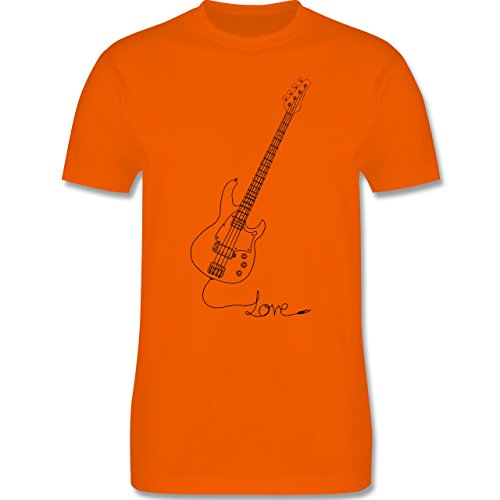 Rock'n'Roll - Love - Gitarre - Herren Premium T-Shirt Orange