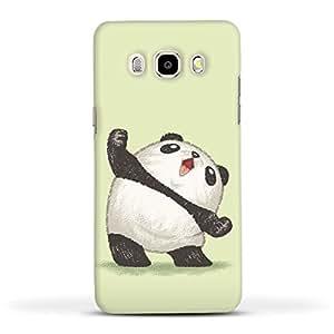FUNKYLICIOUS Galaxy J7 2016 Back Cover Panda joy of the victory Design (Multicolour)