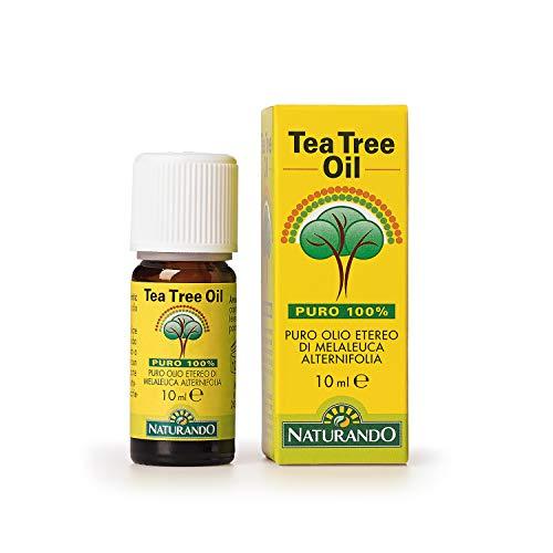 Naturando TEA TREE OIL FLACONE DA 10 ML - 100% puro olio di Melaleuca Alternifolia - 10 ml