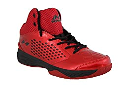 Nivia Warrior -1 Basketball Shoes Red Black (10)