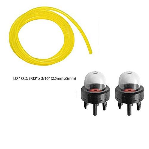 OuyFilters 6617 Fuel Line With 188-512 683974 Primer Bulb For McCulloch Ryobi Homelite Toro Craftsman Troy Bilt