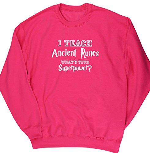 HippoWarehouse Herren Sweatshirt Gr. Large, fuchsia pink (Middle School Science Experimente)
