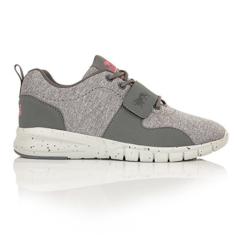 Lonsdale Novas, Chaussures de Running Compétition Femme Grey Marl/Pink