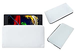 Acm Rich Leather Soft Case For Lenovo P70 Mobile Handpouch Cover Carry White