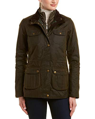 Barbour Chaffinch Damen Jacke, gewachste Baumwolle, isoliert, Olivgrün - grün - 44 -