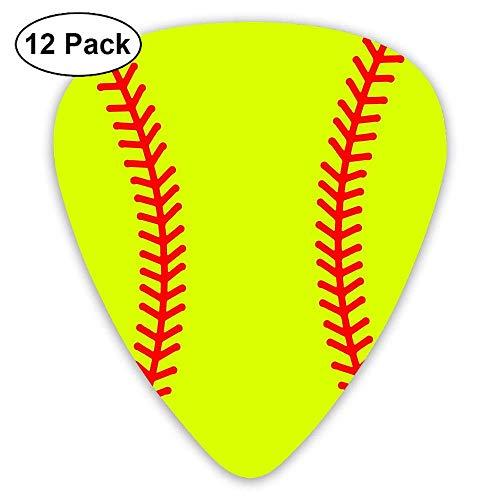 Baseball Stitches Softball 351 Shape Classic Picks 12 Pack For Electric Guitar Acoustic Mandolin Bass