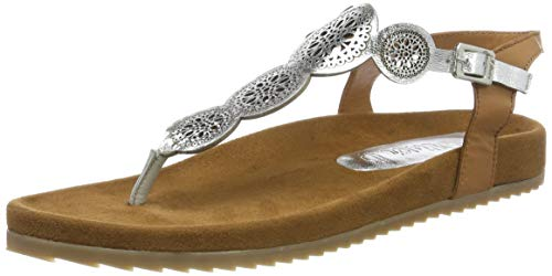 s.Oliver 5-5-28132-32, Sandali con Cinturino alla Caviglia Donna, Argento (Silver 941) 40 EU