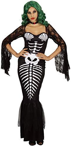 U LOOK UGLY TODAY Halloween Kostüm Damen Skelett Meerjungfrau Sexy Spitze Kleid Cosplay Karneval Abendkleid Verkleidungsparty- S/M - ()