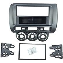 DKMUS 1 Din o doppio Din facia DVD, Radio Stereo-Kit di montaggio con cruscotto per autoradio per Honda Jazz castone 2002-2008 fascia (1 din)