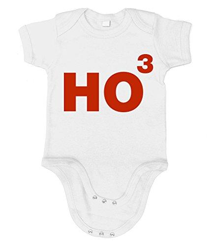 Grinch Kostüm Baby (Artdiktat Baby Organic Bodysuit - Strampler - Ho3 - HO HO HO Größe 76/86,)