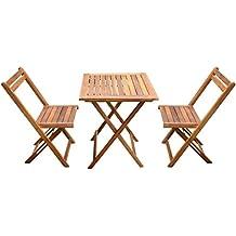 Tavolo Giardino Legno Massiccio.Amazon It Tavoli Giardino In Legno