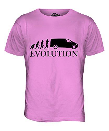 CandyMix Kleintransporter Treiber Evolution Des Menschen Herren T Shirt Rosa