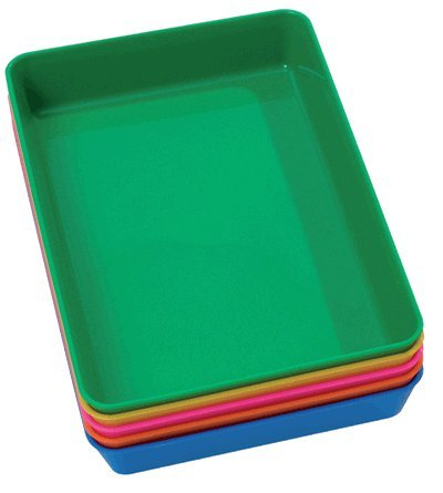 Set of 5 Small Coloured Trays (Each Tray approx 5