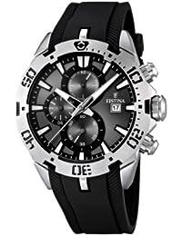 Festina F16672/2 - Reloj cronógrafo de cuarzo para hombre con correa de caucho, color negro