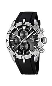 Festina - F16672/2 - Montre Homme - Quartz - Chronographe - Chronomètre/ Aiguilles lumineuses - Bracelet Caoutchouc Noir