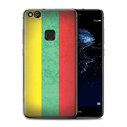 Stuff4 Gel TPU Hülle / Case für Huawei P10 Lite / Litauen/Litauisch Muster / Europa Flagge Kollektion