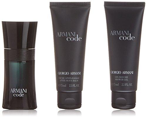 ARMANI Code Pour Homme Geschenkset - Eau de Kologne plus Duschegel und After Shave Balm, 1er Pack (1 x 34 Stück)