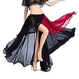 ROYAL SMEELA Gonna di Danza del Ventre Abbigliamento da Ballo Donna Gonne in Chiffon Moda Luce Sexy Grande Gonna Swing Indumento di Prestazione Breve A Vita Alta Colpisci Colore