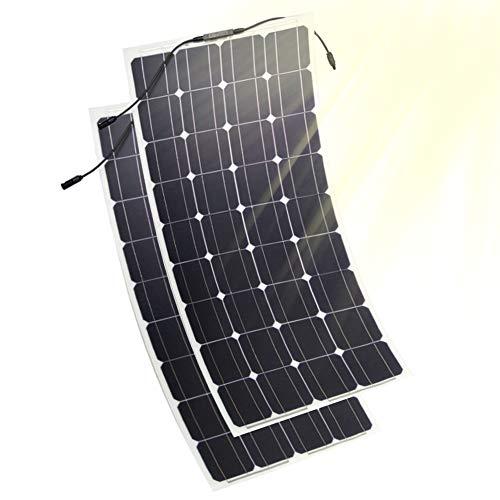 JAYLONG Panneaux Solaires Flexibles 100W, 2 Chargeurs Solaires 12V / 24V, Contrôleur De Charge LCD De Sécurité Inclus, 10 Ans De Durée De Vie,2Pcs - Portable-rv-generator