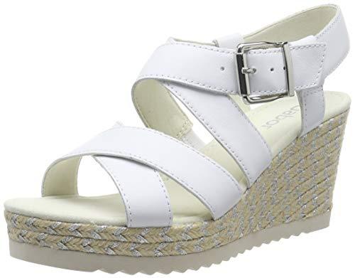 Gabor Shoes Damen Basic Riemchensandalen, Weiss 21, 36 EU