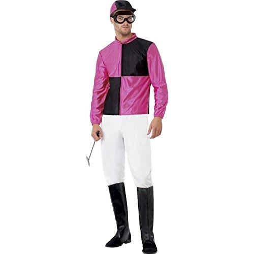 Herren Kostüm Jockey Reiter Karneval Fasching Größe (Reiter Helm Kostüm)