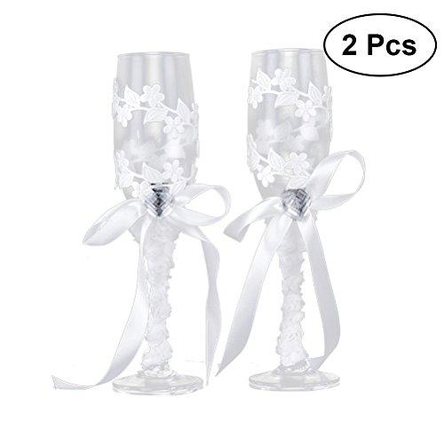 eit Becher Weingläser Champagner Flöten Toasten Gläser (JB-32) ()