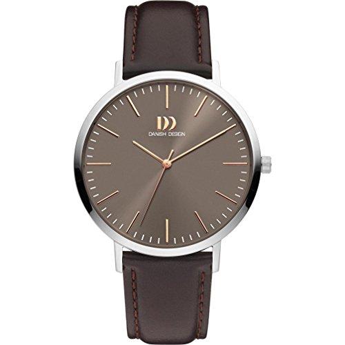 Danish Design Men's 42mm Brown Leather Band Steel Case Sapphire Crystal Quartz Analog Watch IQ18Q1159