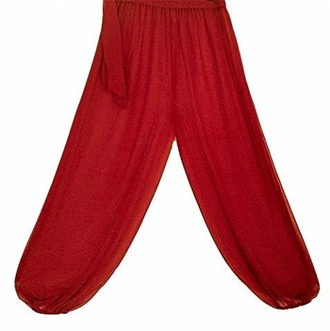 Bauchtanz Harem Hose zum Tanzen Tribal Tänzer Kostüm Yoga FANCY KLEID Leggings M L XL (ROT) (Bauchtanz-kostüme Amazon)