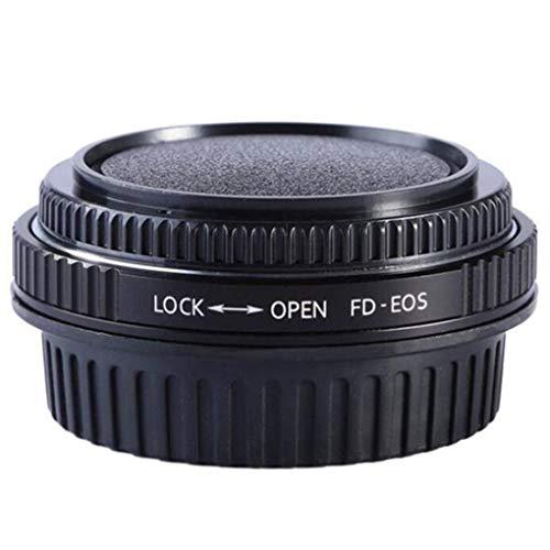 Luckiests Obiettivo del Metallo FD Nero per EOS EF Corpo Anello Adattatore di Montaggio Messa a Fuoco all'infinito e Sostituzione di Vetro per Canon