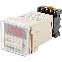 220V AC Relé de contador digital DH48J-11A Pantalla LED de 11 clavijas Relé de conteo 1-999900