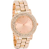 Civo Rose Golden Stainless Steel Band Women's Wrist Watch