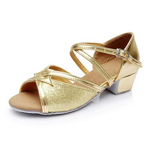 Vovotrade Kinder Mädchen drehen Cross Bandage Latin Dance Tango Tanzschuhe Tanzschuhe üben Schuhe Prinzessin Schuhe einzelne Schuhe coole Schuhe