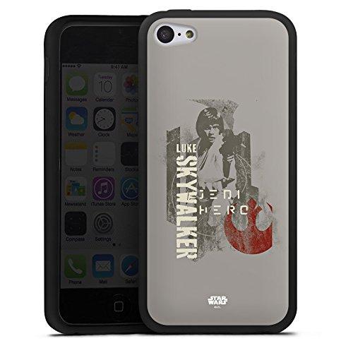Apple iPhone 7 Silikon Hülle Case Schutzhülle Star Wars Merchandise Fanartikel Luke Skywalker Silikon Case schwarz