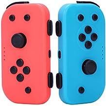 Yangyme Accesorios de Videojuegos Manija Izquierda y Derecha for el Interruptor Joy-con Handle Switch Host Juego Bluetooth Handle (Rojo + Azul)